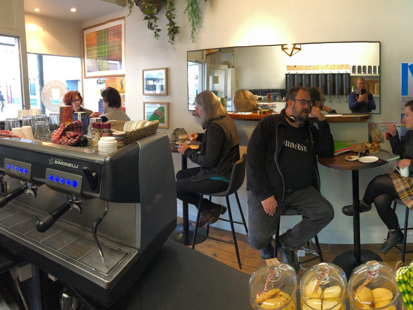 The inside view of Roasted Coffee House