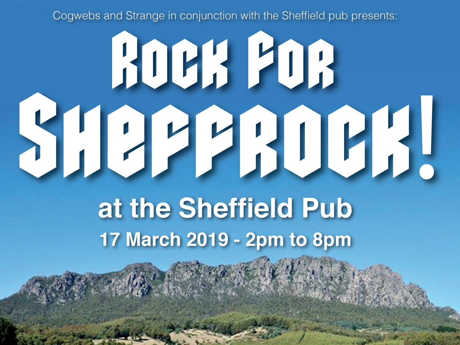 Rock for Sheffrock at the Sheffield Pub 17 March 2019 - 2pm to 8pm