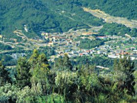 Rosebery - Township from Mt Reid
