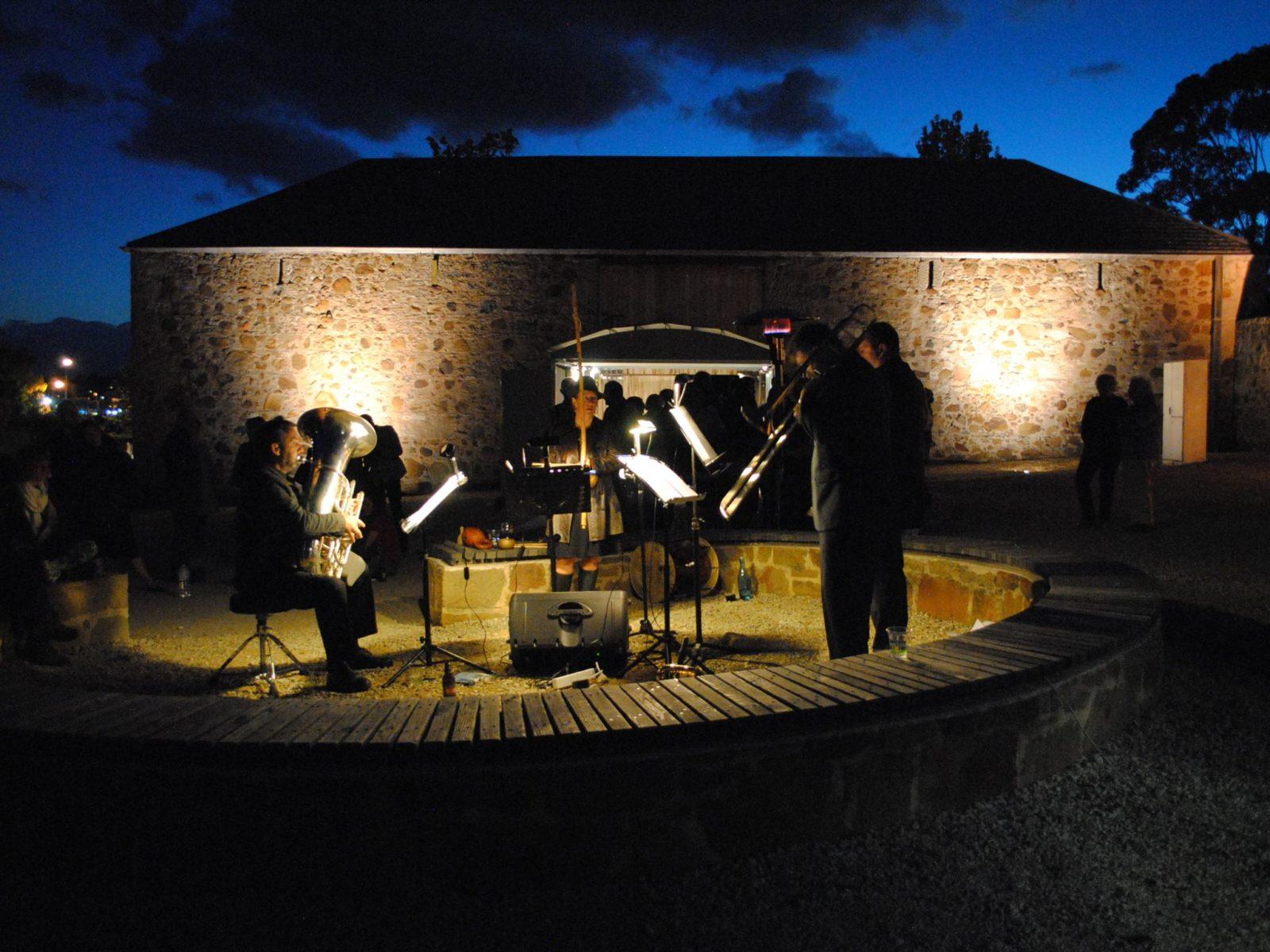 Performance outside Rosny Barn