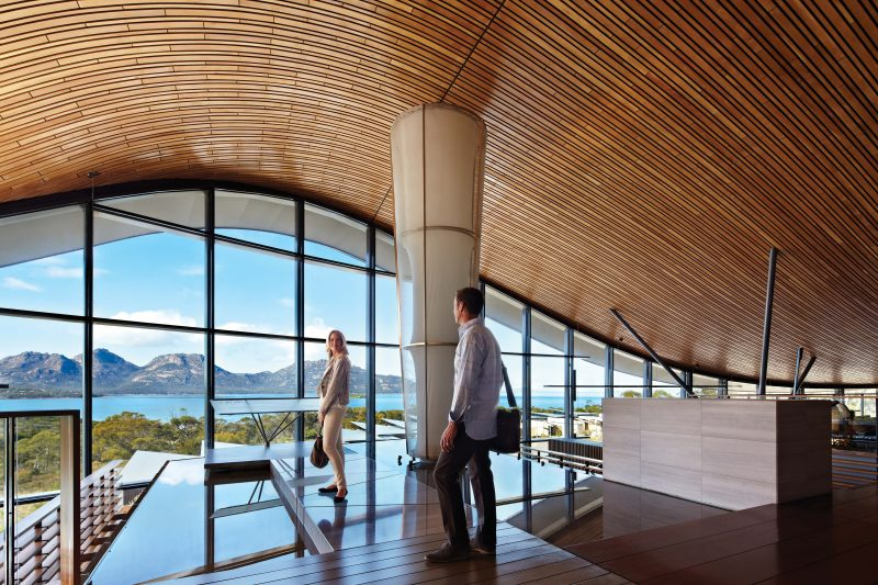 View that greets guests at Saffire
