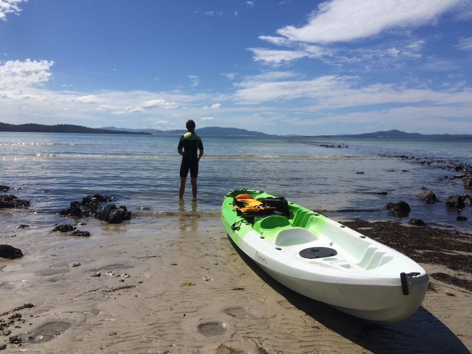 Explore our beaches and bays with our Kayak