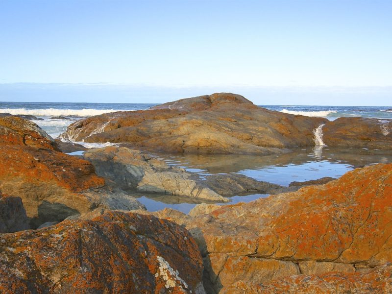 Iconic granite rock pools with cascading water
