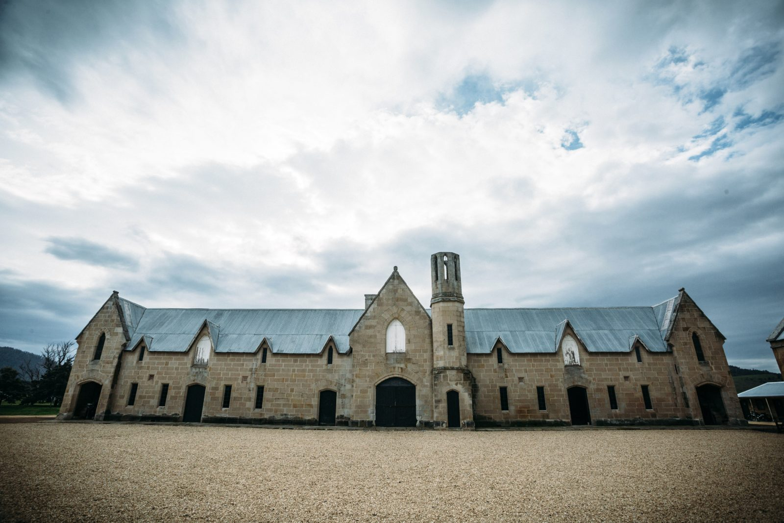 The 1851 Gothic stables built by convicts.