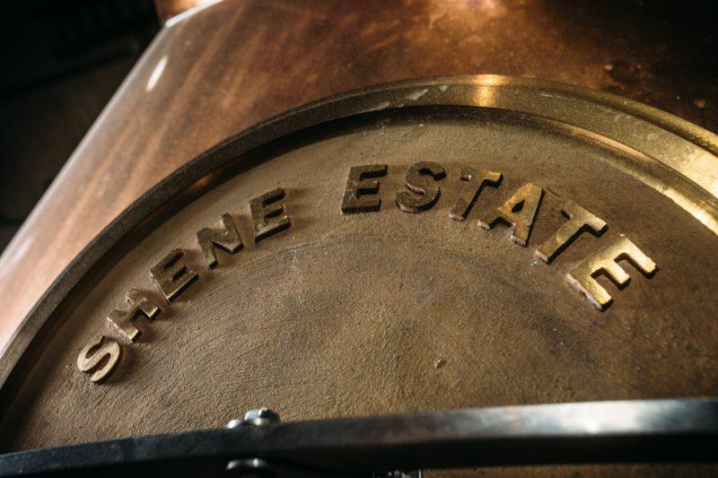 The 2000 Litre copper pot still.