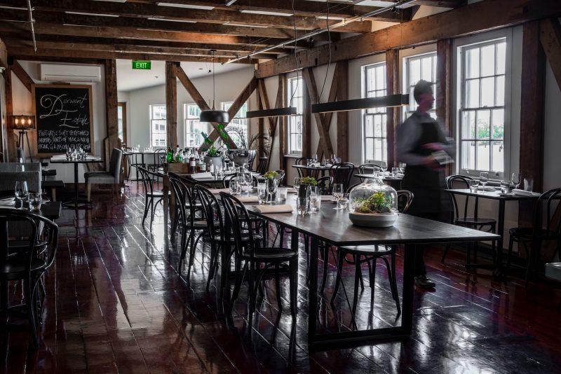 Stillwater Restaurant Launceston Tas setting for dinner