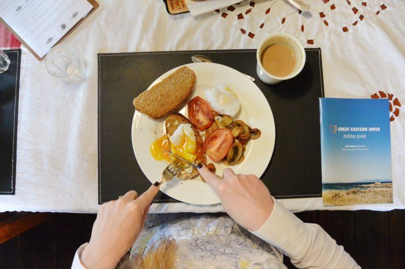 A leisurely breakfast and Stanton Farmhouse