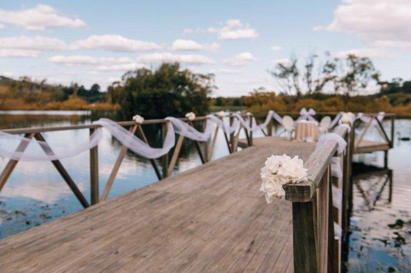 Pontoon / Jetty wedding at Stonesthrow Launceston