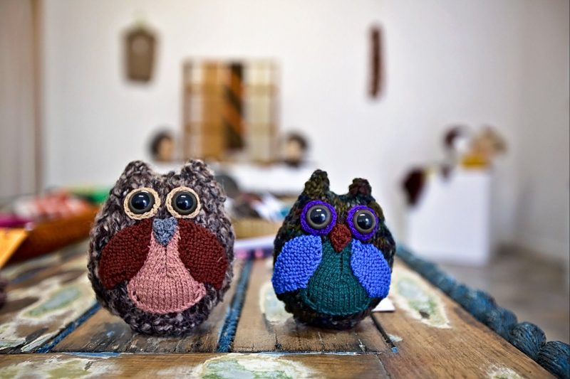 Handmade crafts at the Strait Works Gallery