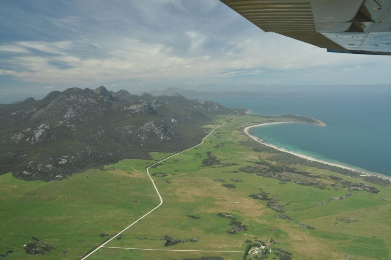 Mt Strzelecki National Park from above Flinders Island Tasmania