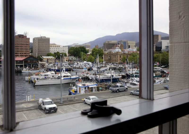 Waterfront view from apartment