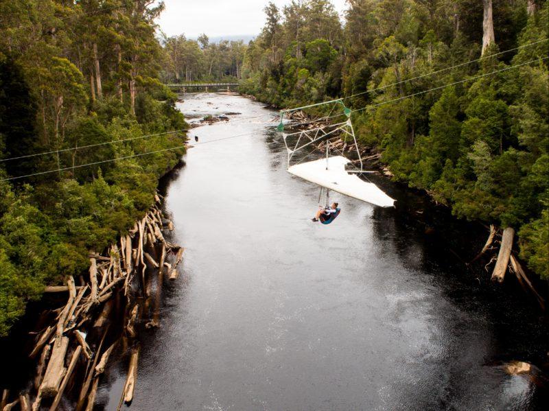 Eagle Hang Glider over the Huon River Tasmania