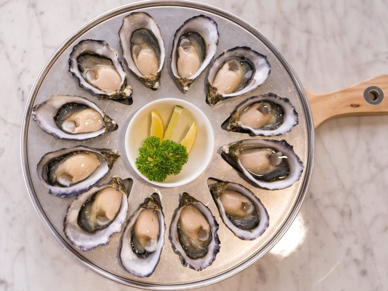 The freshest oysters are served by the half and full dozen shucked fresh daily at Tarkine Fresh
