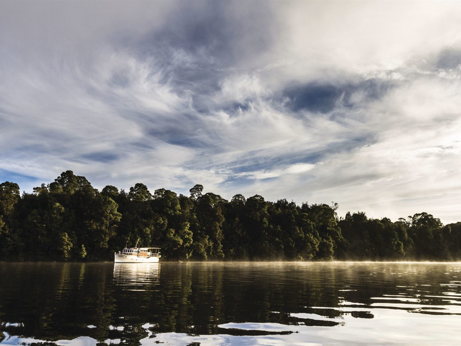Arcadia II on the Pieman River