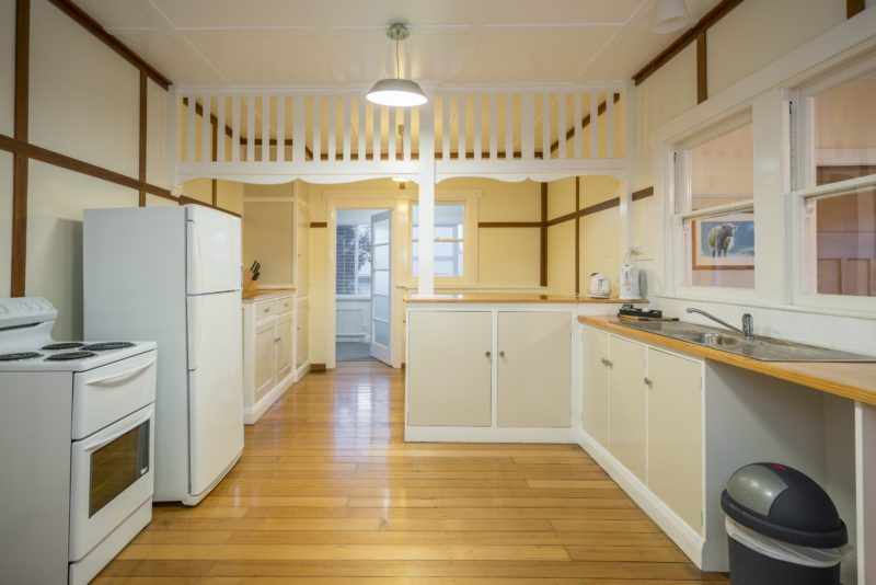 Tarraleah Estate's Art Deco cottages fully self contained kitchens
