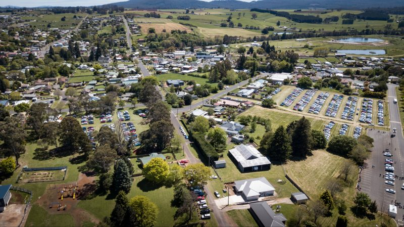 Aerial view of the venues displaying all types of craft. Linked by free shuttle bus.