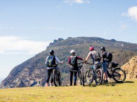 E-Bike riders on Fossil Cliffs