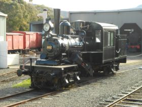 Vintage trains and other historic transport items are on display