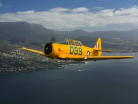 Harvard Warbird over the River Derwent
