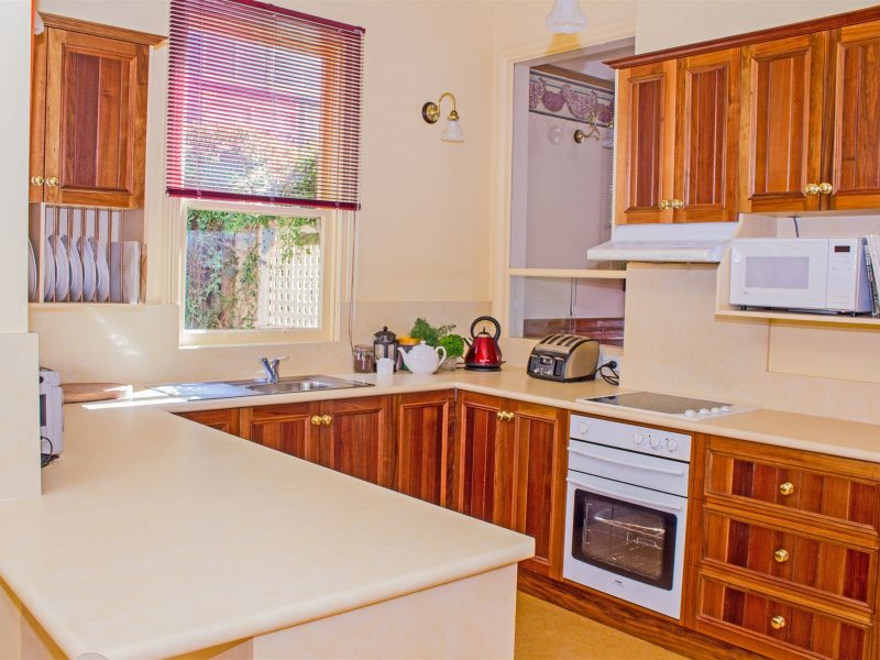 Fully equipped kitchen in each cottage
