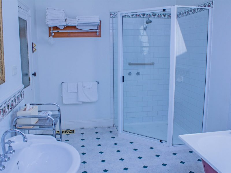 Spacious Bathrooms with Shower and large claw foot baths in each cottage