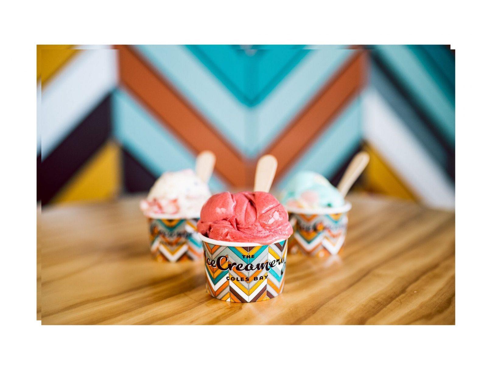 Tasmania's best Ice Cream @ The IceCreamey Coles Bay