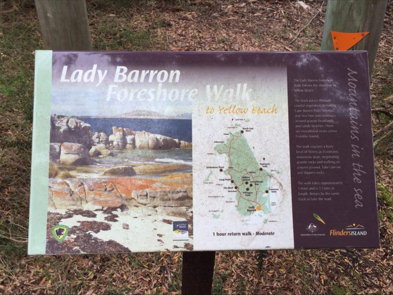 Lady Barron Foreshore Walk to Yellow Beach Flinders Island Tasmania