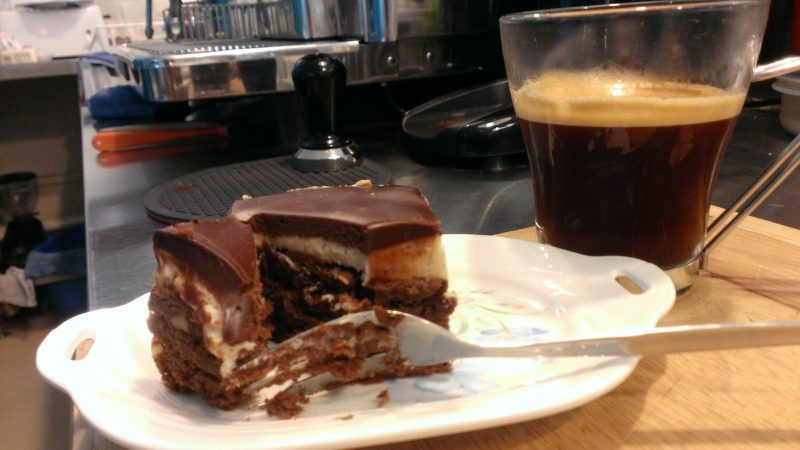 Cappuccino Brownie and Coffee