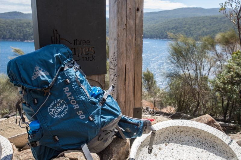 Three Capes Gear and Gourmet's lightweight backpacks are perfect for the Three Capes Track.