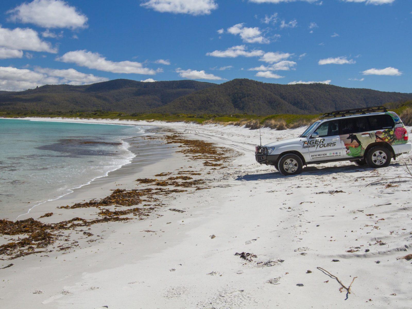 Drive on the beach at Seymour East Coast Tasmania