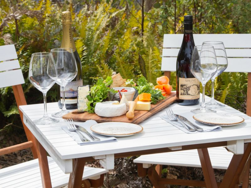 A freshly prepared antipasto • Local Tasmanian beer and wine Tasmania