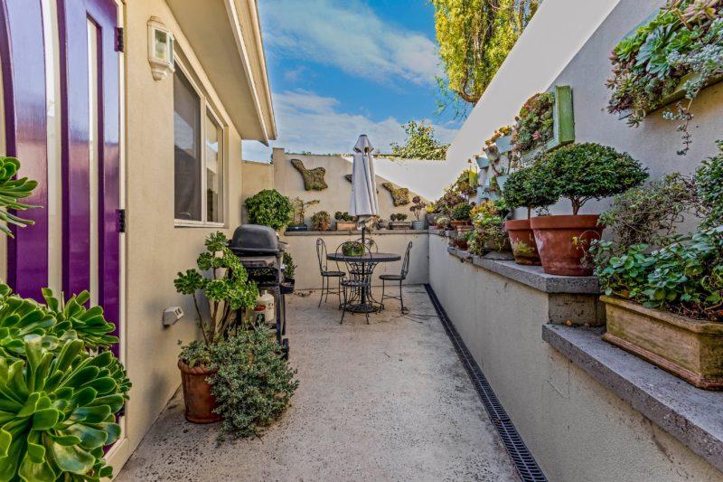 Private patio bbq area.