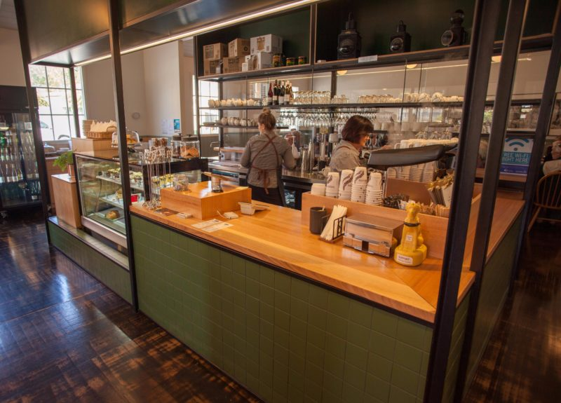 Tracks Cafe at Queenstown Station offers a large, bright, warm and welcoming atmosphere