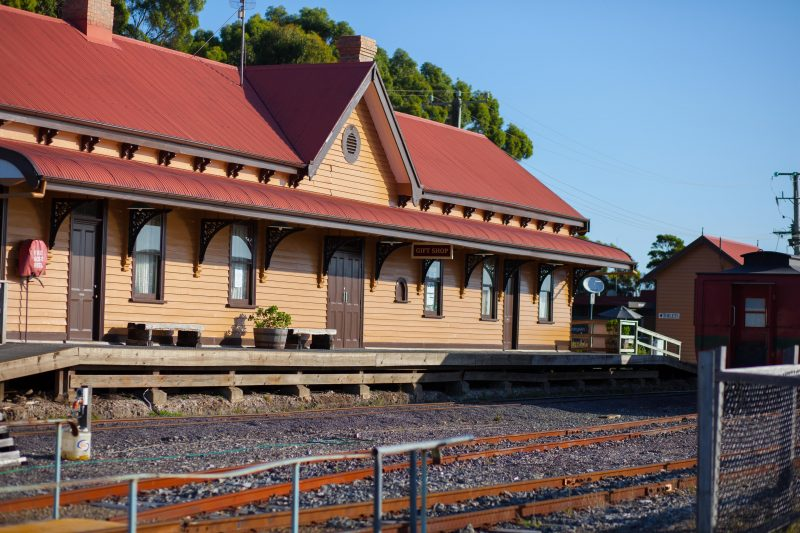 Tracks on Point Cafe is located inside the historic Regatta Point Station on the Esplanade, Strahan
