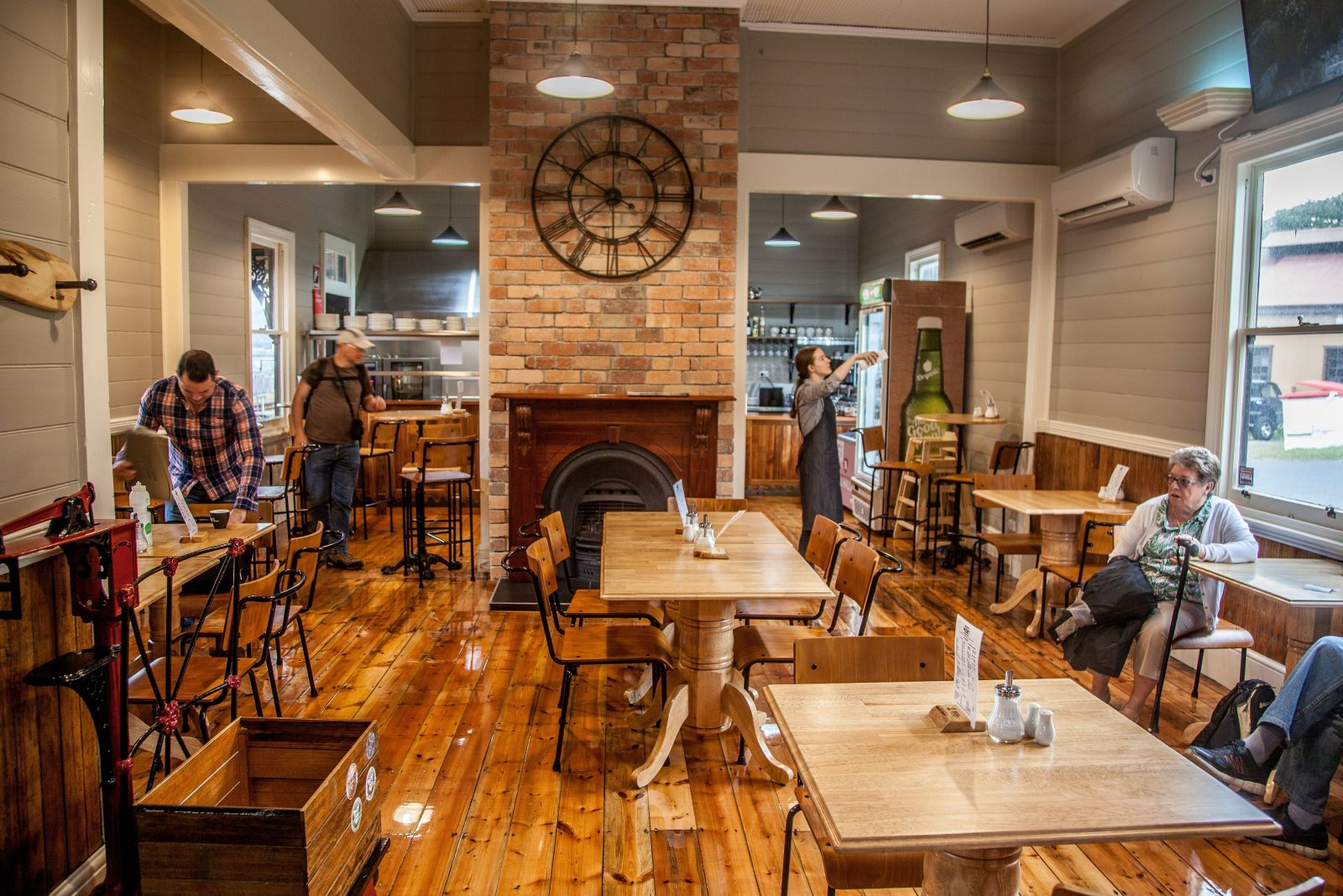 Tracks on Point cafe is located at the West Coast Wilderness Railway's Regatta Point Station Strahan