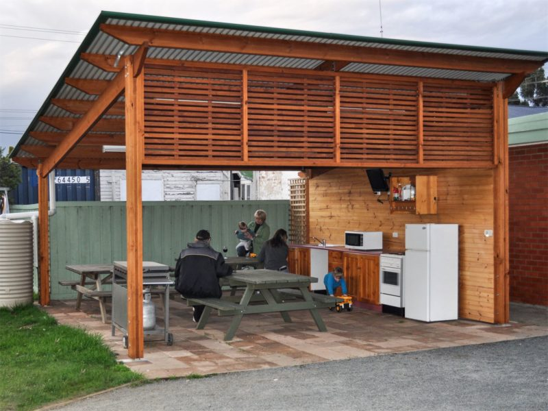 New picnic shelter and camp kitchen