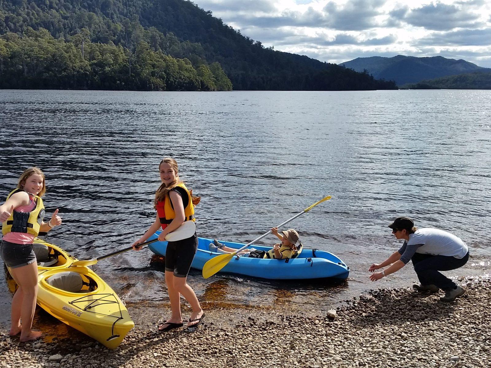 Water sports on Lake Rosebery