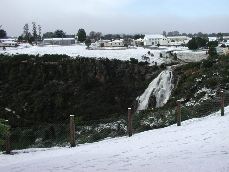 Waratah Falls in winter