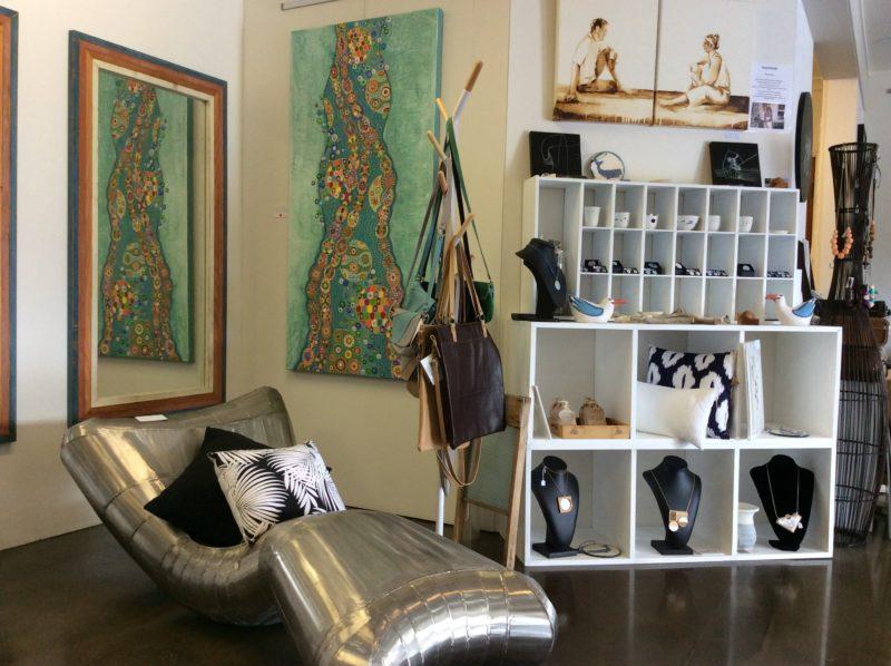 Mermaid chair, Tasmanian leather goods, indigenous artist, ceramics, home furnishings