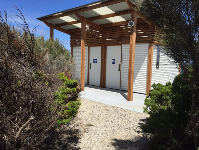 Facilities close by to the free gas barbecue at Whitemark Foreshore Flinders Island Tasmania