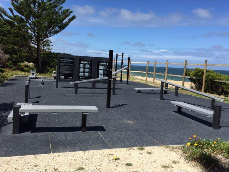 Exercite equipment on Whitemark Foreshore Flinders Island Tasmania
