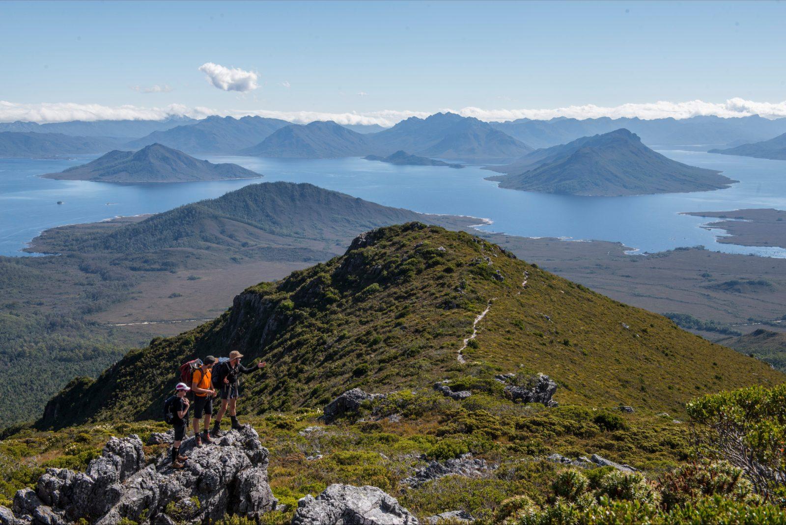 Wild Pedder, Mount Eliza, Lake Pedder and the Frankland Range