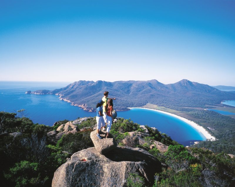 Wineglass Bay from Mt. Amos