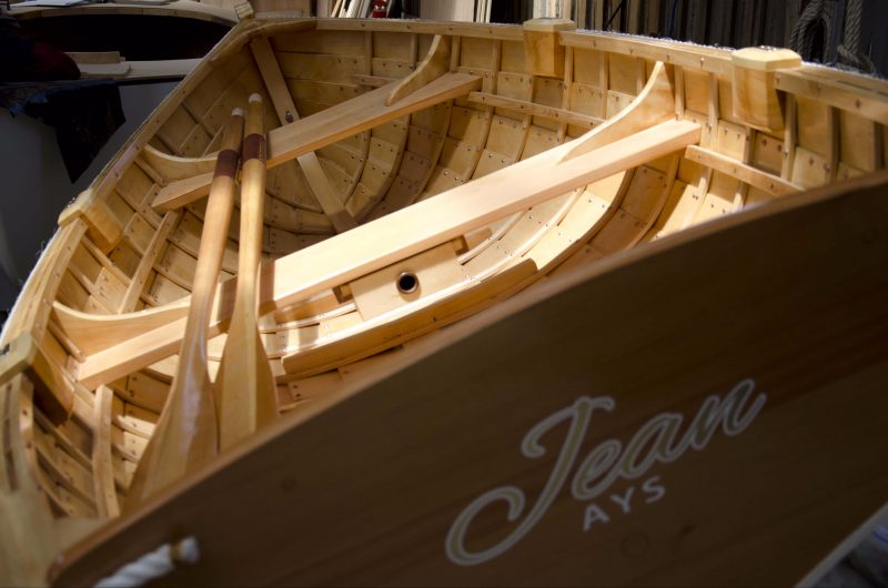 Clinker Dinghy build at the Wooden Boat Centre