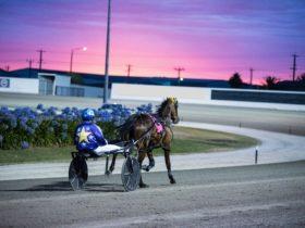 Racing with setting sun