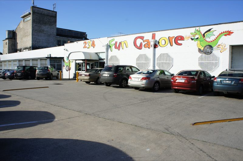 Off Street Parking at 234 Fun Galore, with ample disability parking and public transport access