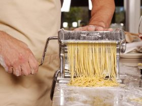Making pasta in the A tavola! kitchen
