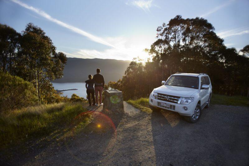 Exploring the Aberfeldy Four Wheel Drive Track at Cast Iron Point, Gippsland, Victoria, Australia