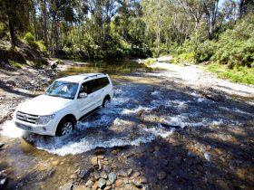 Car Driving Through River