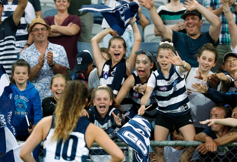 A big crowd is expected for the Cats' last home game of AFLW 3.0